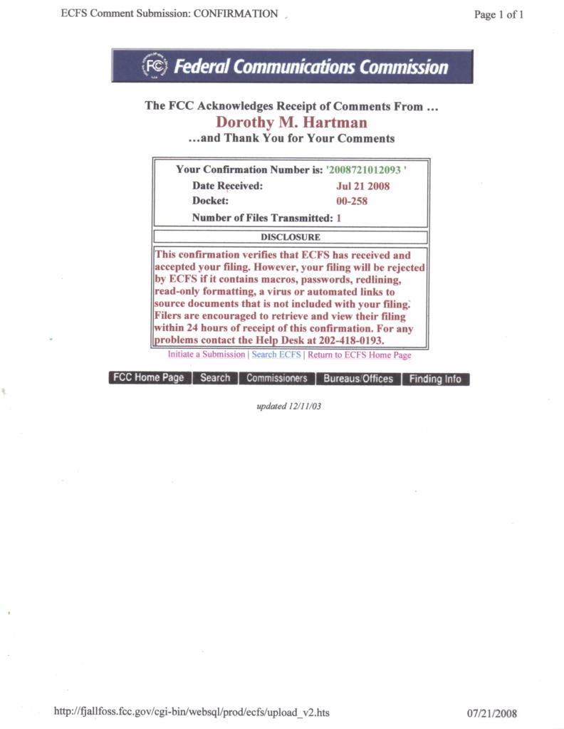 Internet Inventor addresses FCC in 2008